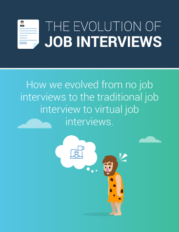The Evolution of Job Interviews Infographic